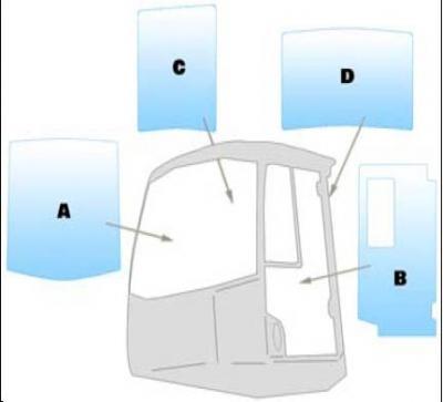 Window Machinery / Equipment Windshield 436HTWM JCB - 426HT - 456 EZX
