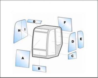 Machine glass / windshield Equipment Kubota KX251-3