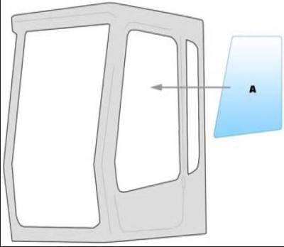Equipment window / windscreen equipment Liebherr 312