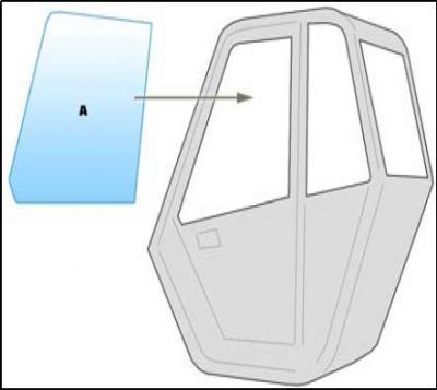 Equipment window / windscreen equipment Manitou 1530