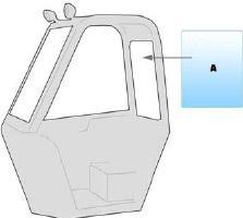 Equipment window / windscreen equipment Manitou BT420 BUGGYSCOPIC
