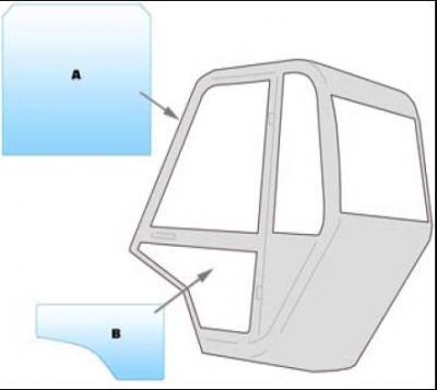 Equipment window / windscreen equipment Manitou M SERIES M26 - 30 - MC50 - MS140 - M40 - M50-4