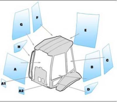 Equipment window / windscreen equipment Manitou MLB625 TURBO BACKHOE