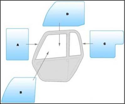 Machine glass / windshield equipment Manitou MLT- MT 524 to 928-4 TELEHANDLER