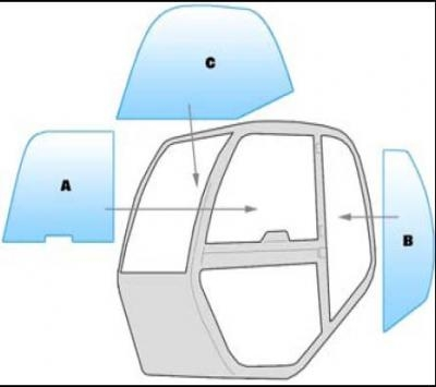 Equipment window / windscreen equipment Manitou MLT 523-526 TURBO