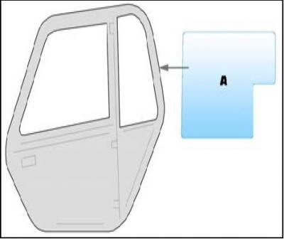 Equipment window / windscreen equipment Manitou MLT 628-632 - 732