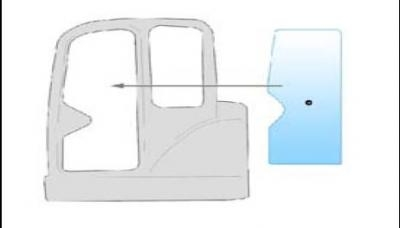 Geam utilaj/ Parbriz utilaj  SMC MX15 MINI EXCAVATOR
