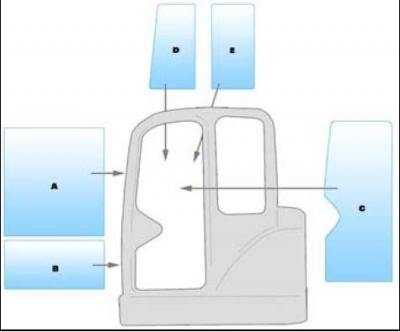 Geam utilaj/ Parbriz utilaj SMC  MX80 MINI EXCAVATOR