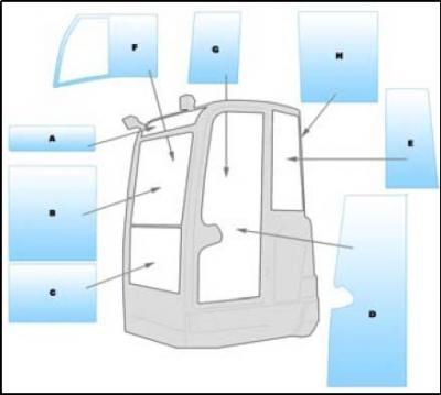 Geam utilaj/ Parbriz Utilaj Volvo EC35C - ECR48C SERIES MINI EXCAVATOR
