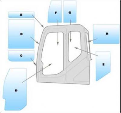 Geam utilaj/ Parbriz Utilaj Volvo EC55 - EC55B PRO MINI EXCAVATOR