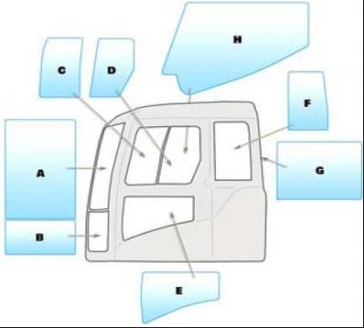 Geamuri cabina Volvo - VOLVO ECR145CL - ECR235CL - ECR305CL