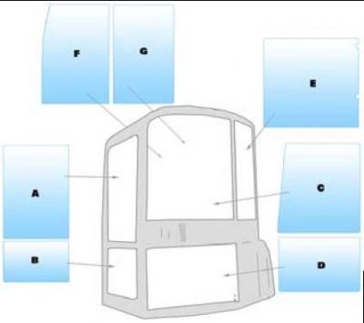 Geam utilaj Case / Parbriz utilaj Case CX20BZTS-22-27-31-36-40-50 BZTS