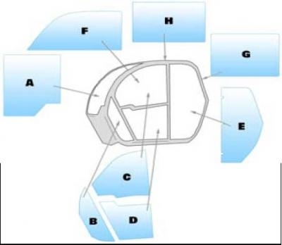 Geam utilaj Case / Parbriz utilaj Case TX130.30- TX130.33 - TX130.40 - TX130.43 -TX130.45 TX140.43  TX140.45  TX170.45