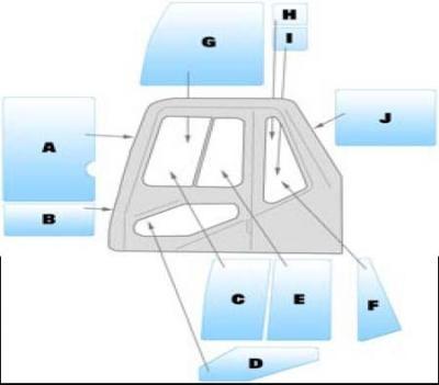 Geam utilaj Daewoo / Parbriz utilaj Daewoo S130LC-V, S170LC-V, S170LC-VBE, S220LC-V, S220LC-VBE, S220LL, S220N-V S250LC-V, S250LC-VBE, S290LC-V, S290LC-VBE, S290LL, S330LC-V, S360LC-V S400LC-V, S450LC