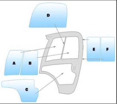 Geam utilaj JCB / Parbriz utilaj JCB 520.40 - 524.50 - 527.55